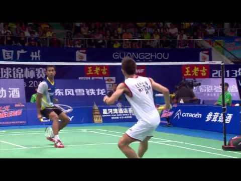 Video Vòng 2 giải cầu lông Vô Địch Thế Giới 2013  Lee Chong Wei vs Dionysius Hayom Rumbaka