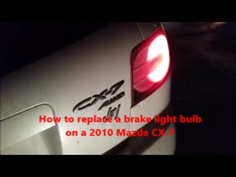 How To Change A Brake Light Bulb In 2010 Mazda Cx 7