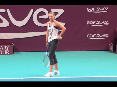 Maria Sharapova Best of practice session - Open GDF Paris 2014 HD