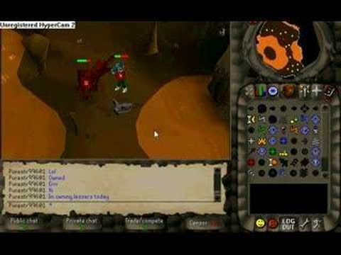 Runescape Nice hits on lessers