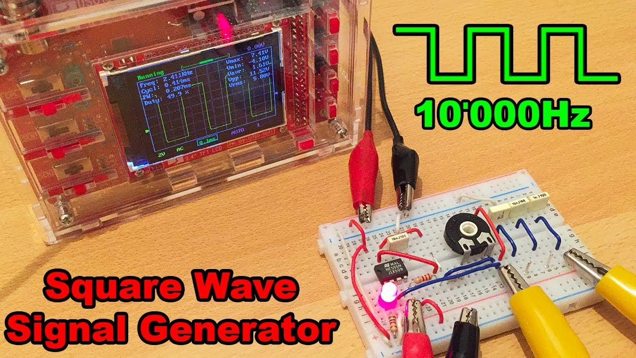 Square Waveform Generator Circuit Using Lm Ic By Square Waveform