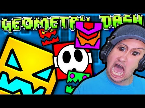 WHY IS THIS GAME SOOOOOO HARD?! | Geometry Dash Gameplay Part 1 (iOS/Android/Steam)