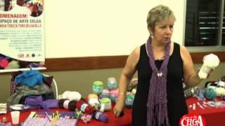 Demonstração de crochê e tricô por V...
