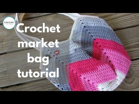 Crochet Purse Bag : Granny Square Bottom Bag Crochet Tutorial - YouTube
