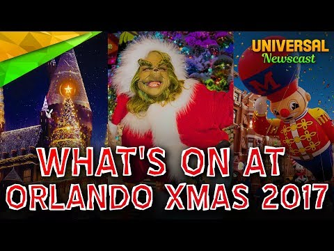 Universal Studios Orlando Christmas Holidays 2017 Event - Universal Studios News 18/10/2017