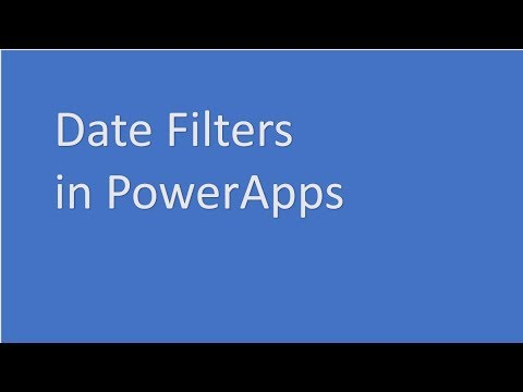Date Function in Power Apps