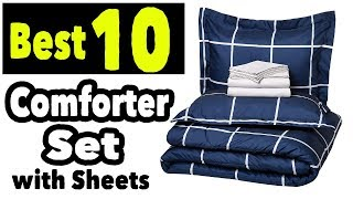 Best 10 Queen Size Comforter Set With Sheets Black White