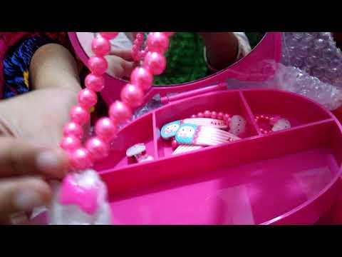 Hello Kitty jewelry box with jewelry