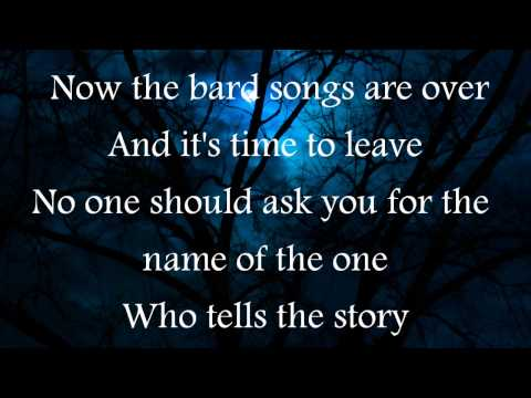 Blind Guardian-The Bard's Song (lyrics)