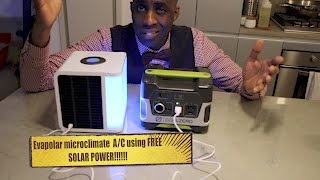 Evapolar personal microclimate-USING FREE SOLAR POWER!!!- HERVE