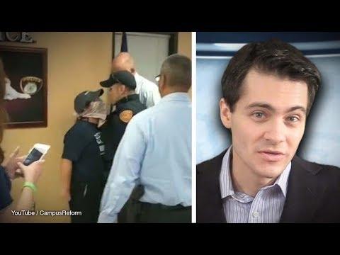 Leftist Student Has MELTDOWN When Arrested   Rob Shimshock
