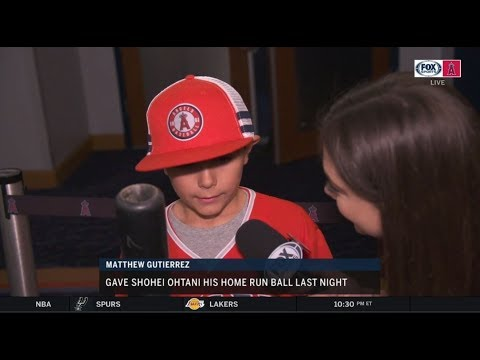 How Angels fan Matthew Gutierrez ended up with Shohei Ohtani's HR ball