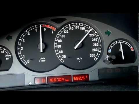 HD: Beschleunigung BMW 850 i A E31 100-257 km/h 300HP Autobahn A9 850i acceleration