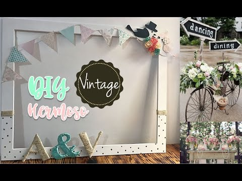 Diy cuadro selfie para boda vintage marco de fotos youtube - Cuadros para habitacion de matrimonio ...