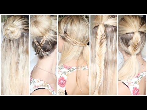 Tutoriel Coiffure n°31 ] : 5 coiffures pour tous les jours ! - YouTube