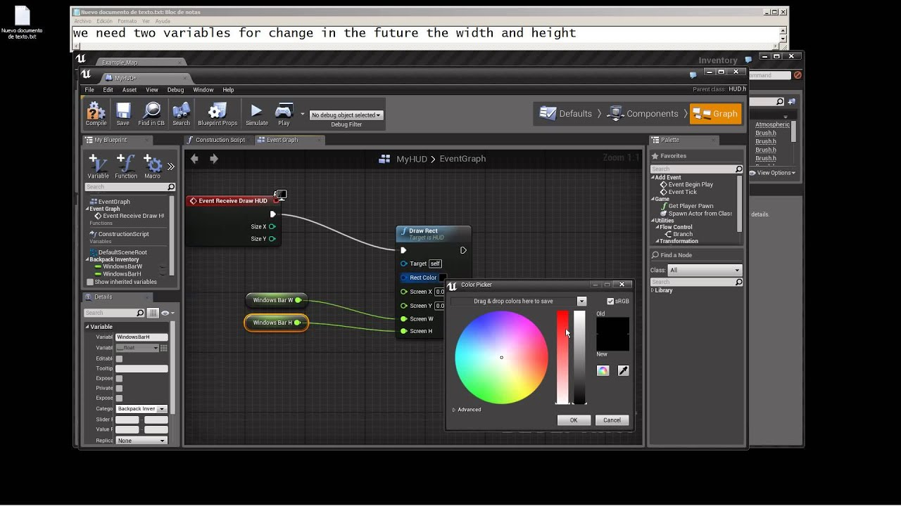 how to make a interact system in unreal engine 4