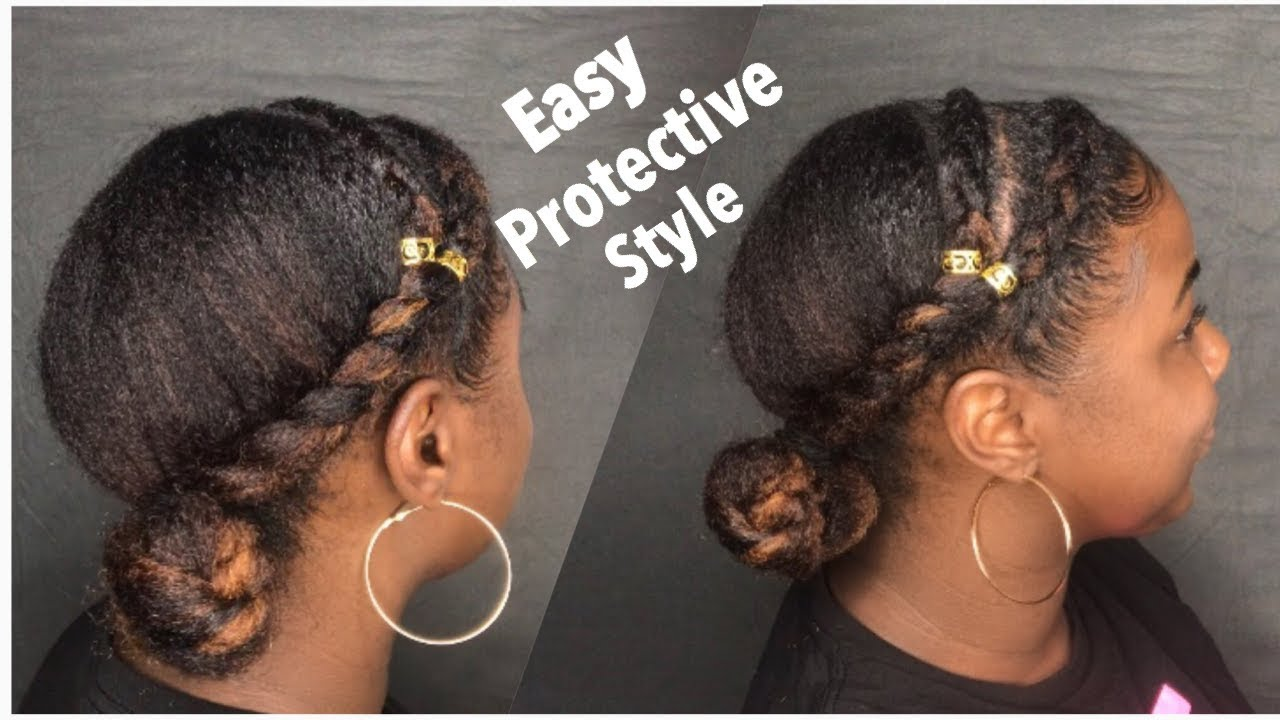 Easy Protective Style For Natural Hair Without Weave Youtube