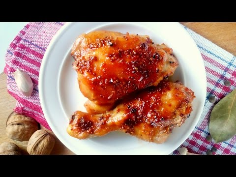 Oven thighs chicken in the cooking slow