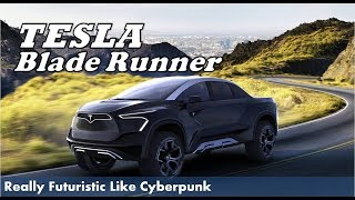 Tesla Blade Runner First Look - Vehicle All-Electric