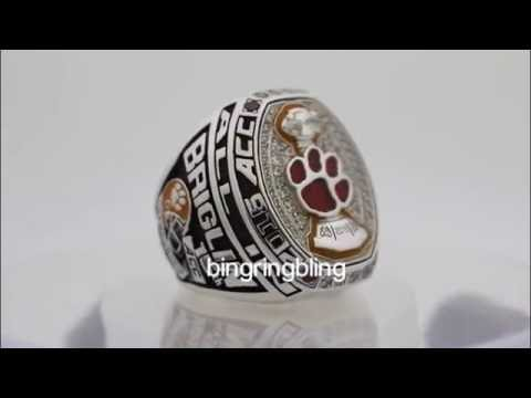 rings tigers clemson championship acc ring custom