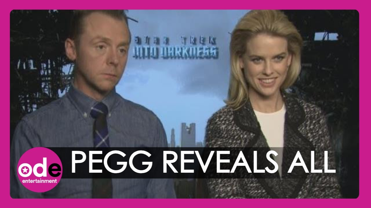 Alice Eve and simon pegg