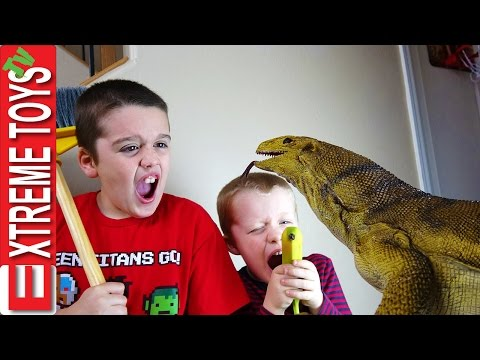 The Monitor Lizard Stow Away! Giant Wild Reptile Sneaks Home with the Boys.