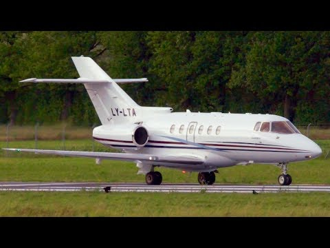 Hawker 800XP LY-LTA Charter Jets Landing at Bern
