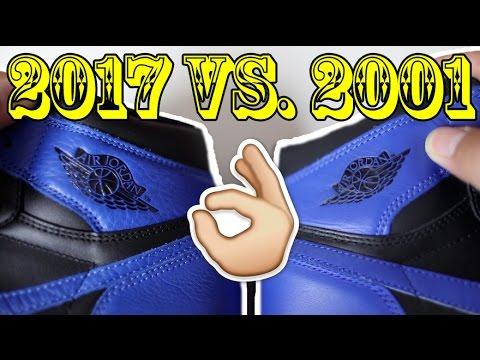2017 vs. 2001 AIR JORDAN 'ROYAL' 1 COMPARISON!!!