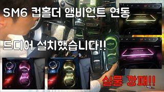 SM6 컵홀더 & 수납장 앰비언트 연동2편(드디어 설치…