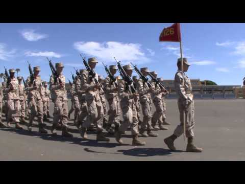US Marine Recruits Close Order Drill MCRD San Diego