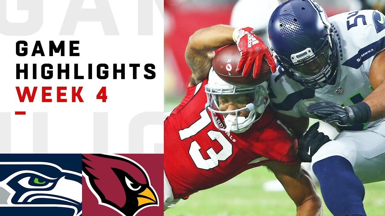 seahawks vs cardinals week 4 highlights nfl 2018 youtube