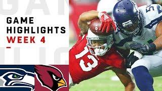 Seahawks vs. Cardinals Week 4 Highlights | NFL 2018