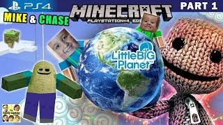 Mike & Chase play MINECRAFT PS4:  Little Big Planet 3 World Exploration (FGTEEV Part 1 Gameplay)