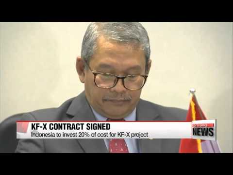 Korea Aerospace Industries and Indonesia sign contract for KF-X project   인도네시아,