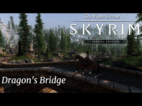 Modded The Elder Scrolls V  Skyrim Special Edition - Dragon's Bridge - ENB - 4k |