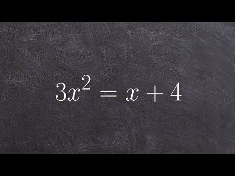 Solving a quadratic equation when it is not set equal to zero
