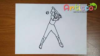 How to Draw a Baseball Step by Step for Kids