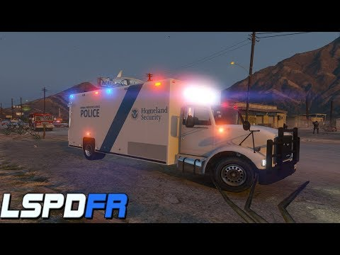 GTA 5: LSPDFR #128 - Homeland Security Search Warrant