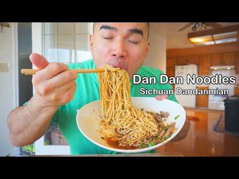 SPICY Dan Dan Noodles | Mukbang