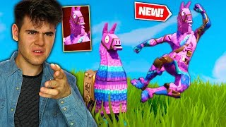 SO I UNLOCKED THE LLAMA SKIN in Fortnite Battle Royale... (NEW LLAMA SKIN GAMEPLAY)