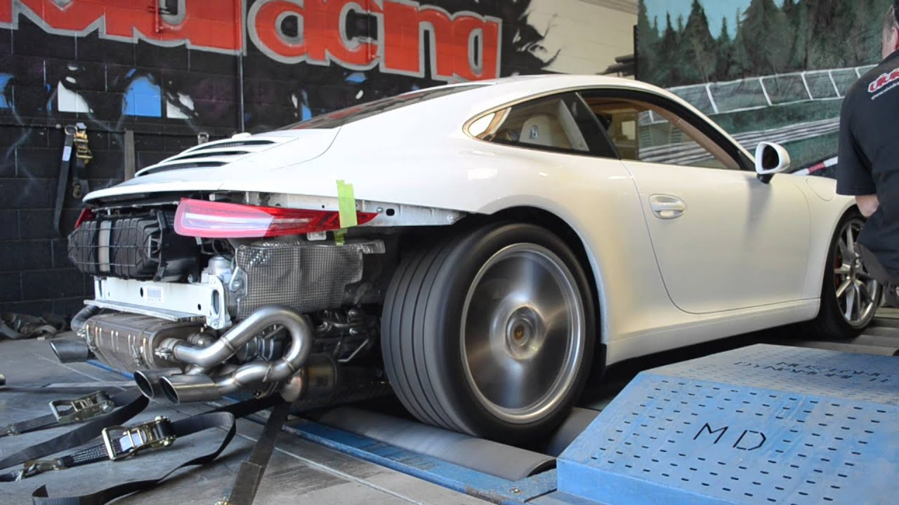 Porsche 991 Carrera S Dyno Test and Tune Exhaust Bypass Pipes