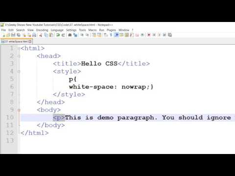 White Space In CSS (Hindi)
