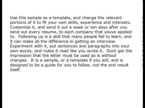 Letter For Work Experience Resume - YouTube