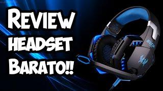 REVIEW HeadSet Gamer Muito Bom e Barato - Gearbest
