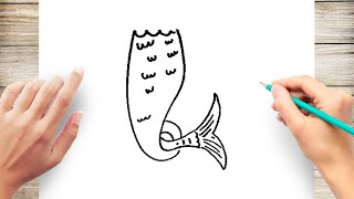 How to Draw a Mermaid Tail Step by Step for Kids