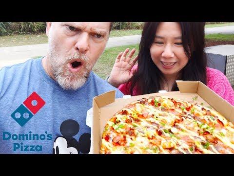 Domino's New Stretchier Mozzarella Reef Steak Bacon Pizza Review