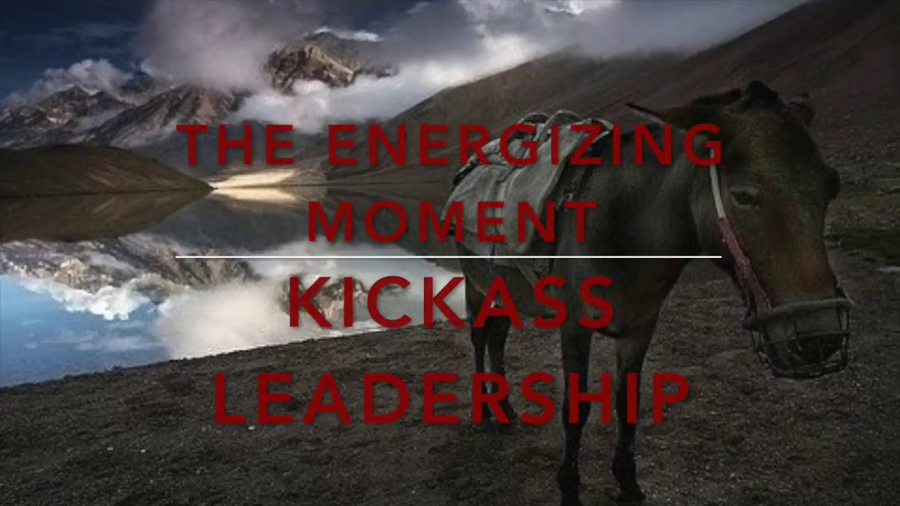 THE ENERGIZING MOMENT: Part 5: The benefits when a leader surrenders.