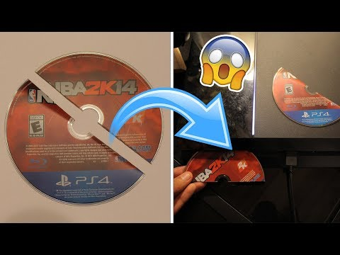WHAT HAPPENS WHEN YOU PUT A HALF BROKEN PS4 GAME DISC IN A PS4? (DO NOT TRY THIS)