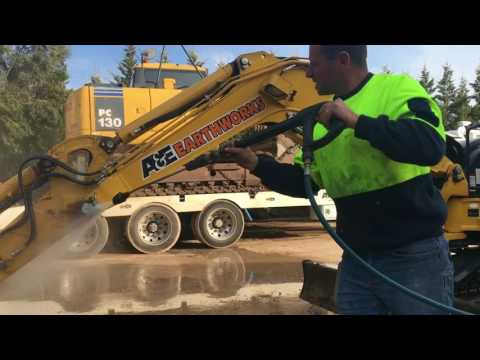 How to Wash Excavator in 15 min EasyWash Australia