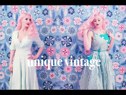 Summer Dresses from Unique Vintage (ASMR whispering&softly speaking, fabric, packaging sounds)